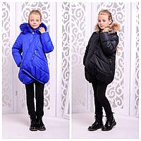 Стильная куртка для девочки зима   Стильный зимний пуховик детский