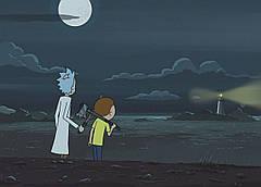 Картина 60х40см Рик и Морти маяк