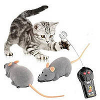 Игрушка для домашних питомцев на радиоуправлении Мышь