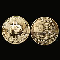 Сувенирная монета Биткоин. Подарочный Bitcoin!