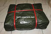 Тент Тарпаулин - 130 усиленный плотность 130 гр/м2 зеленый с люверсами