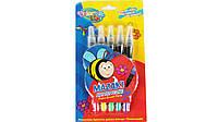 COLORINO Ручка с кисточкой наполненная краской 5 цветов