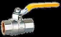 Кран шаровой HLV GAS вн-вн желтая ручка