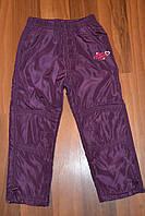 Балоневые утеплённые штаны на флисе для девочек размеры 98-128 см.Фирма TAURUS.Венгрия