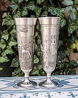 Два коллекционных оловянных бокала, пищевое олово, Германия