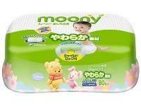 Moony Влажные салфетки 80шт (пластик-бокс)