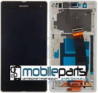 Оригинальный Дисплей (Модуль) + Сенсор для Sony C6602   C6603   C6606   L36h   Xperia Z (С рамкой) (Черный)