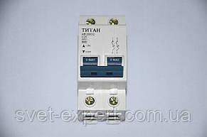 Автомат. выключатель Титан двухпол. 20А (6кА), фото 2