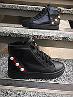 Ботиночки молодежные черные нубук