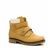 Рыжие ботинки FS Сollection для мальчика, на липучках,размер 32-39, фото 1