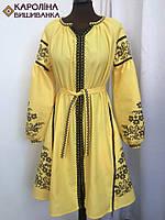 Пошите жіноче плаття під вишивку ( Жовте бохо)