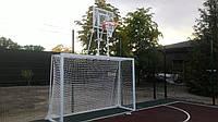 Ворота футбольные 3х2 с баскетбольным щитом 900х600