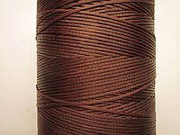 Нить вощёная плоская 0,8 мм коричневая