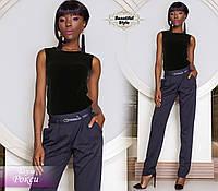 Женская черная блуза без рукавов Рокси