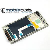 Дисплей (Модуль) + Сенсор (Тач) для Sony C6902   C6903   C6906   C6943   L39h   Xperia Z1 (С рамкой) (Белый)