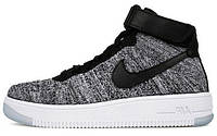 Мужские кроссовки Nike Air Force 1 Ultra Flyknit Oreo Grey