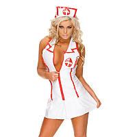 РАСПРОДАЖА Сексуальный костюм медсестры (эротический халатик и головной убор)