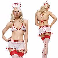 РАСПРОДАЖА Комплект медсестры эротический с юбочкой, фото 1