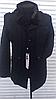 Мужское пальто черное зима