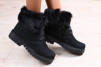 Зимние женские полуботинки на шнурках