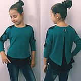 Батник для девочки,блузка с кружевом (разные цвета)122-140см., фото 3