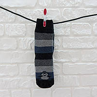 Носки женские высокие из шерсти черно-синий