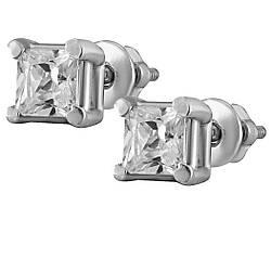 Сережки зі срібла з куб. цирконіями 177455
