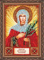 Набор для вышивки бисером на натуральном художественном холсте Святая Татьяна