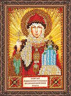 Набор для вышивки бисером на натуральном художественном холсте Святая Ольга