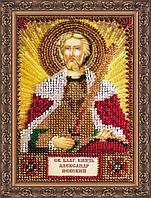 Набор для вышивки бисером на натуральном художественном холсте Святой Александр