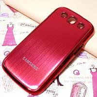 Металлический красный чехол к Samsung GalaxyS3 (i9300)+упаковка