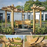 Стильная пергола для сада, парка и площади