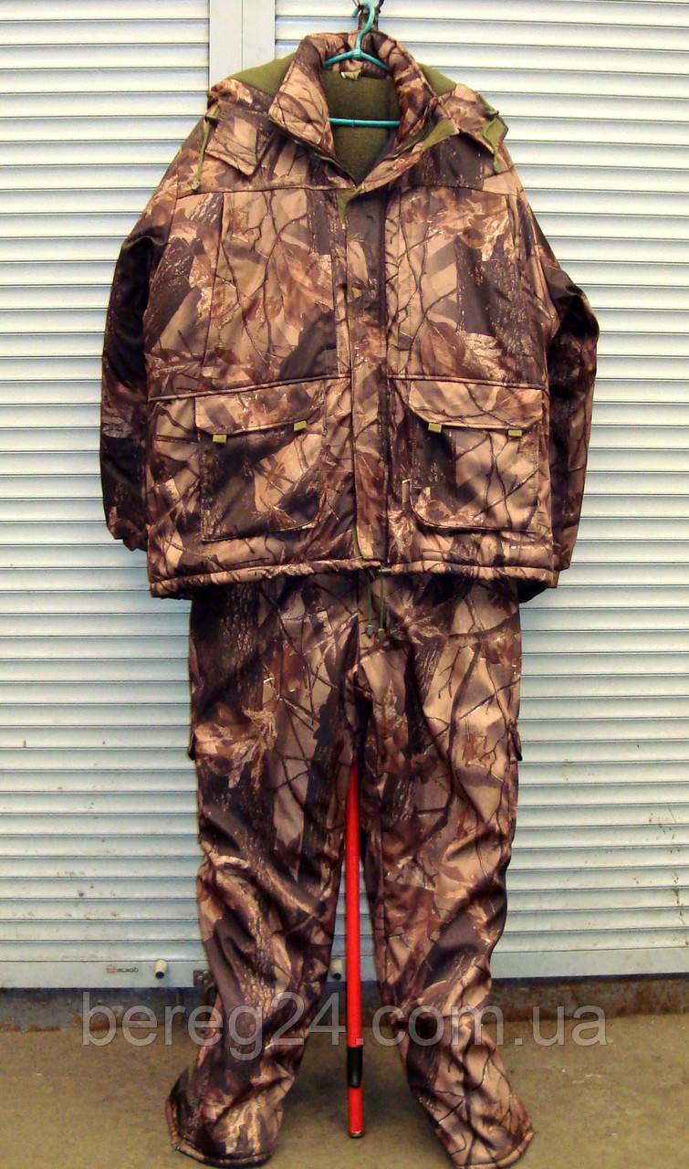 Зимний костюм для охоты, рыбалки  ANT Бурый лес размер 60-62 (XXL)