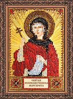 Набор для вышивки бисером на натуральном художественном холсте Святая Маргарита