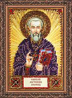 Набор для вышивки бисером на натуральном художественном холсте Святой Леонид