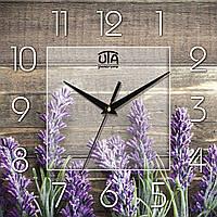 """Часы настенные """"Лаванда"""" квадратные, фото 1"""