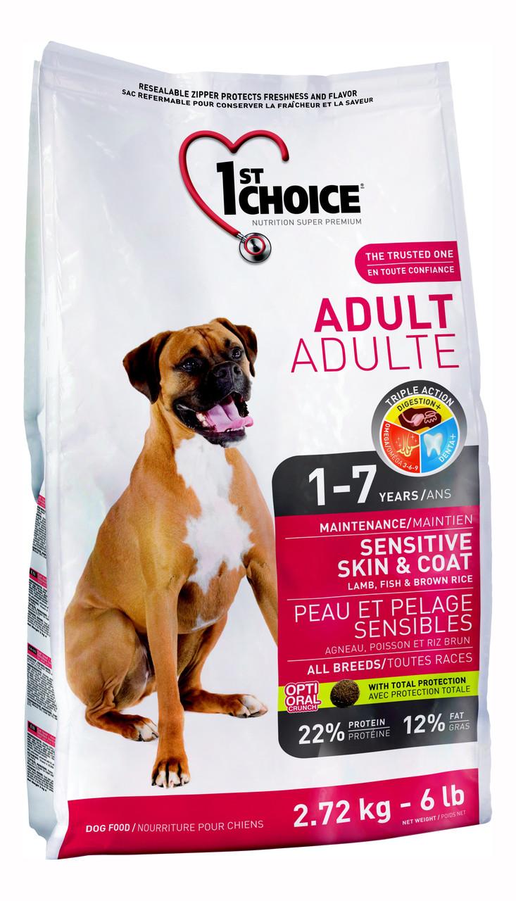 Корм для собак с ягненком и рыбой 1st Choice Adult All Breed