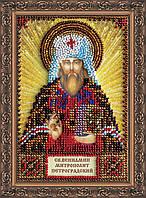 Набор для вышивки бисером на натуральном художественном холсте Святой Вениамин