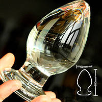 РАСПРОДАЖА Анальная пробка стекло объемная L, фото 1