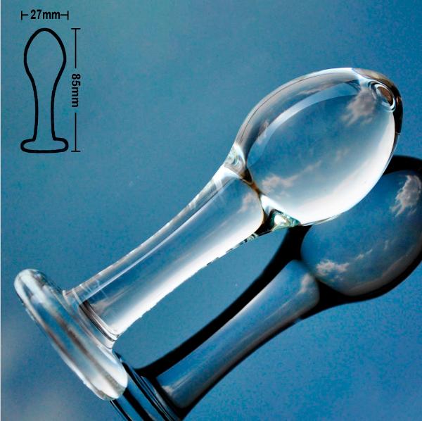РАСПРОДАЖА Анальная пробка стекло для начинающих
