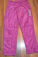 Балоневые утеплённые штаны на флисе для девочек размеры 116-146 см.Фирма TAURUS.Венгрия