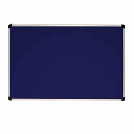 Текстильна дошка ABC Office 100 x 150 см. алюмінієва рама S-line, синя