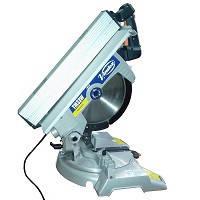 Пила торцовочная переносная поворотная маятниковая Virutex TM33W с верхним столом и лазерным указателем линии