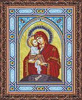 """Набор для вышивки бисером на натуральном художественном холсте """"Богородица Почаевская"""""""