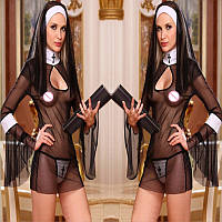 РОЗПРОДАЖ Сексуальний рольової костюм монашки