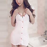 Эротичный халатик медсестры с подвязками