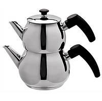 Двухъярусный чайник турецкий Imex Arnella (чайник 1,5 л + заварник 0,75 л), фото 1