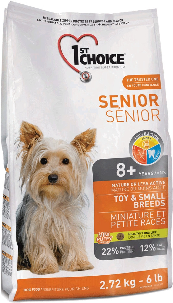 Корм для пожилых собак мини-пород 1st Choice Senior Mini and Small Breed