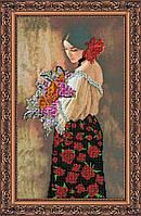 """РАСПРОДАЖА! Набор для вышивки бисером на натуральном художественном холсте """"Марсела"""""""