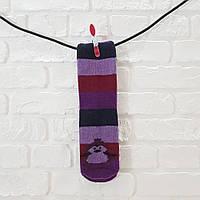 Носки женские высокие из шерсти темно-фиолетовый